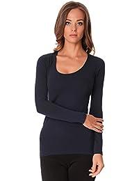 c18df91f9992f6 Amazon.it: Maglia Blu Donna M - S / Donna: Abbigliamento