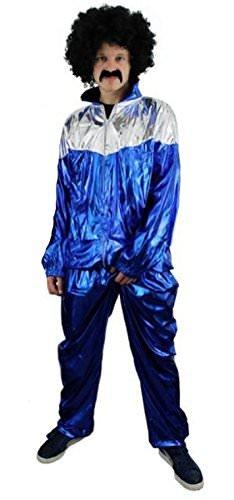 ILOVEFANCYDRESS Rapper Shell Suit = ERHALTBAR MIT und OHNE ZUBEHÖR= ERHALTBAR IN Verschiedenen GRÖSSEN =HIP Hop = Schlechter Geschmack Plastik Anzug = XLarge-KOSTÜM