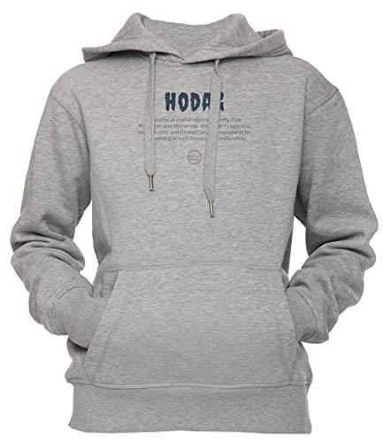 een Unisex Herren Damen Kapuzenpullover Sweatshirt Pullover Grau Größe M Men's Women's Hoodie Grey Medium Size M ()