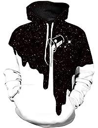 Imbry Herren Slim Fit Hoodie Long Sleeve Kapuzenpullover 3D Druck Muster Sweatshirt Pullover