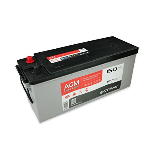 ECTIVE 150Ah 12V AGM Batterie EDC-Serie VRLA Versorgungsbatterie in 7 Varianten: 65Ah - 230 AH (wartungsfrei)