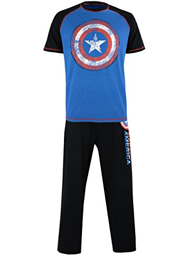 Marvel Mens Avengers Captain America Pyjamas