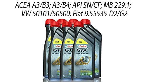 Castrol GTX Ultraclean 10W-40 A3/B4 Grey, 7x1 Liter