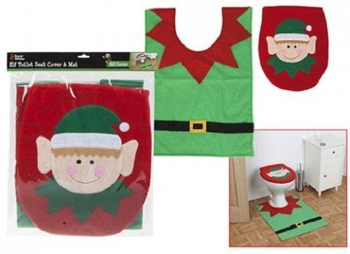 hristmas Elf Toilet Seat Cover & Floor Mat (One-stop-kostüm-shop)