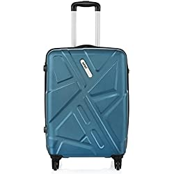 Safari Polycarbonate 77 cms Teal Hardsided Suitcase (TRAFFIK Anti-Scratch 4W 77 Teal)