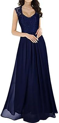 MIUSOL Vestidos Para Mujer Vintage Elegantes Sin Manga Mujer Noche Fiesta Largo