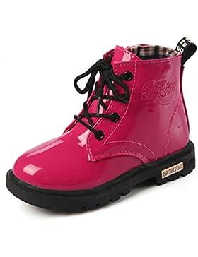 Eagsouni® Los niños y niñas botas con cordones de los zapatos planos del talón cargadores de Martin