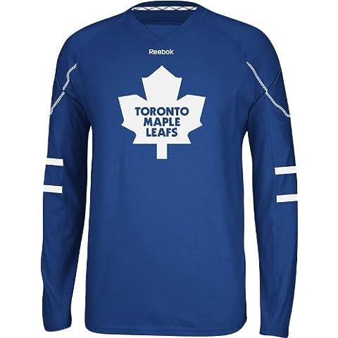 Toronto Maple Leafs Reebok NHL Edge Jersey Maglia Long Sleeve T-shirt camicia
