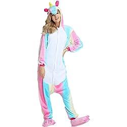 Jysport - Pijama de unicornio, unisex, con capucha de forro polar, disfraz cosplay, Summer Panda