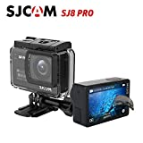 SJCAM SJ8 Pro 4K 60fps Sport Action Camera 12MP 30M Impermeabile macchina fotografica d'azione Mini DV Ambarella H22 S85 SONY IMX377 Wi-Fi Sport Cam Videocamera subacquea (Nero)