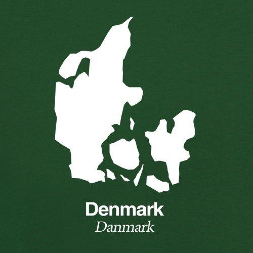 Denmark / Dänemark Silhouette - Herren T-Shirt - 13 Farben Flaschengrün