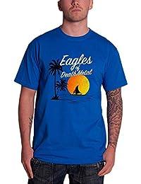 Eagles Of Death Metal de los hombres T Shirt Azul Sunset band logo Oficial