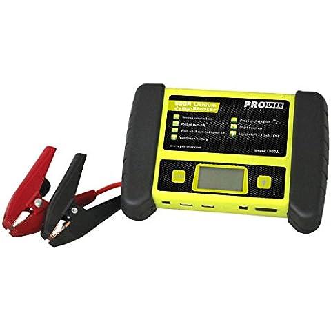 Prouser - Pro-usuario - li600a equipos jumpstart powerpack 600a (12v) a 1,15 kg - lifepo4 4x3000mah - última generación de baterías con la función de
