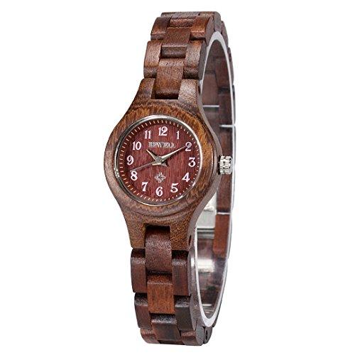 Bewell Fashion und elegante Damenuhr Quarz Analog Uhrwerk mit klaren arabischen Ziffern W123A