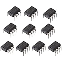 UIOTEC 10Pcs UA741CN DIP-8 UA741 LM741 Operational Amplifiers OP AMP IC