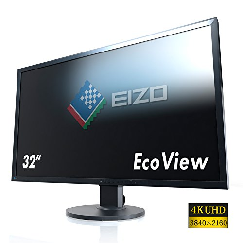 Eizo FlexScan EV3237 BK 32 Inch IPS UHD Desktop Monitor Black 3840 x 2160 Monitors