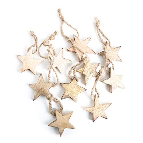10pieza Madera estrellas estrellas Madera estrellas de Navidad 5cm marrón, marrón claro,...