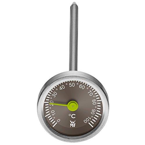 WMF Scala Instant Thermometer analog, Ø 3,0 cm, Cromargan Edelstahl, Glas, Küchenthermometer, Anzeige bis 100°C