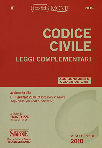 Codice civile. Leggi complementari. Con con aggiornamento online