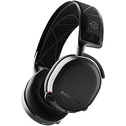 SteelSeries Arctis 7 - Casque de Jeu sans Fil et sans Perte - Son Surround DTS Headphone:X v2.0 pour PC et PlayStation 4 - Noir [Édition 2019]