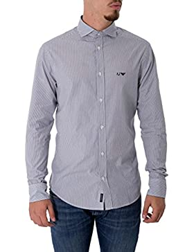 ARMANI JEANS - Camicia da uomo a righe 8n6c74 6n04z