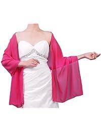 De la Mujer Sheer suave gasa novia chal para ocasiones especiales (25colores)