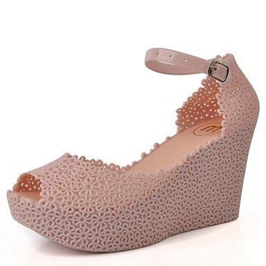 Scarpe Donna WOMEN'S sandali della gelatina di estate scarpe in pvc Casual Zeppa Almond Blushing Rosa US5.5 / EU36 / UK3.5 / CN35