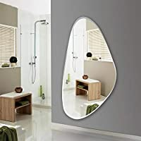 Quality Glass Glass Wall Mirror (18 x 36 inch, Silver)