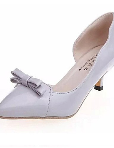 WSS 2016 Chaussures Femme-Mariage / Soirée & Evénement-Noir / Rose / Gris-Talon Aiguille-Talons / Bout Pointu-Talons-Cuir pink-us8.5 / eu39 / uk6.5 / cn40