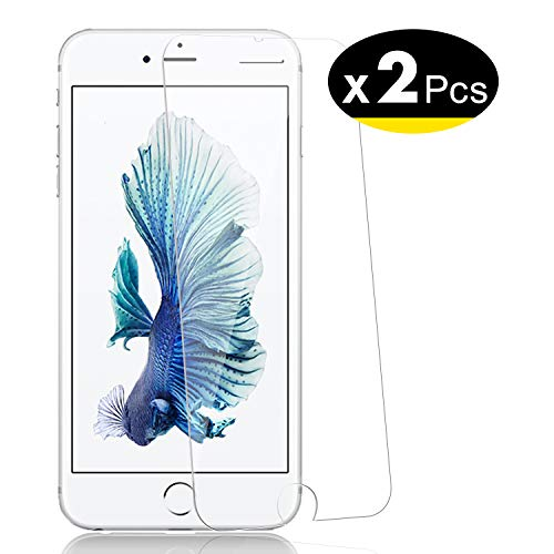 NEW'C Lot de 2, Verre Trempé pour iPhone 6 Plus, 6s Plus, Film Protection écran - Anti Rayures - sans Bulles d'air -Ultra Résistant (0,33mm HD Ultra Transparent) Dureté 9H Glass