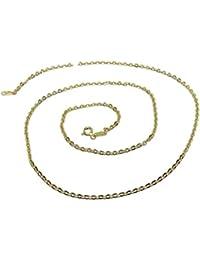 a6d9a6608d4e Cadena de Oro Amarillo para Mujer de 18k Modelo Forzada picada de 50cm de  Larga y