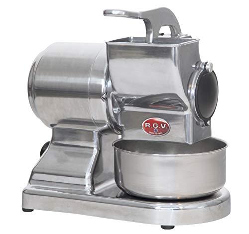 Grattugia elettrica370 watt - un rullo - tappo chiusura - dosatore incorporato - peso circa 11000 gr. - silver