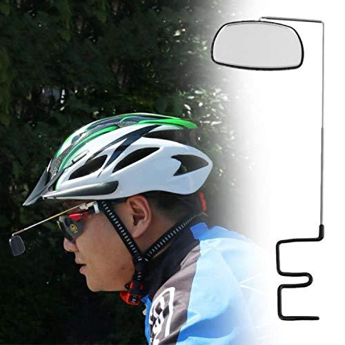 PENVEAT 360 Grad Fahrradspiegel, drehbar, Sonnenbrille, Rückspiegel, Fahrradhelm Spiegel Einheitsgröße Schwarz