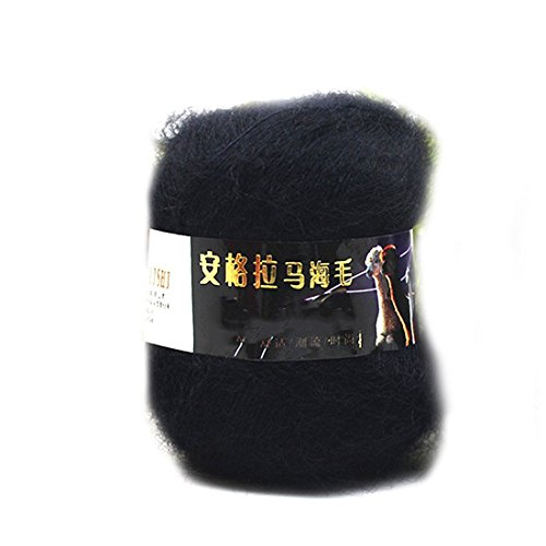 2016 Art und Weise weiche Luxus Mohair Wollstrickgarn Pullover Schal Strickwolle Schwarz - Baumwoll-mohair-garn