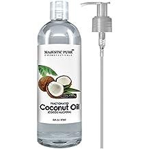 Majestic Pure - Aceite de coco fraccionado 16 Oz - 100% puro y natural - Hidratante y Suavizante, excelente Aceite de masaje de pura Majestic