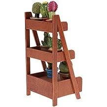 KESOTO Mini Estantería de Escalera de Plantas de 3 Capas de Flores y Plantas en Maceta