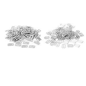 Hellery 200pcs 14mm Metallbüstenhalter Wäsche Schieber Bügel Verschlüsse Für Büstenhalter Bügel 2 Arten