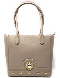 Versace - Bolso de asas para mujer Beige beige 28x12x29cm