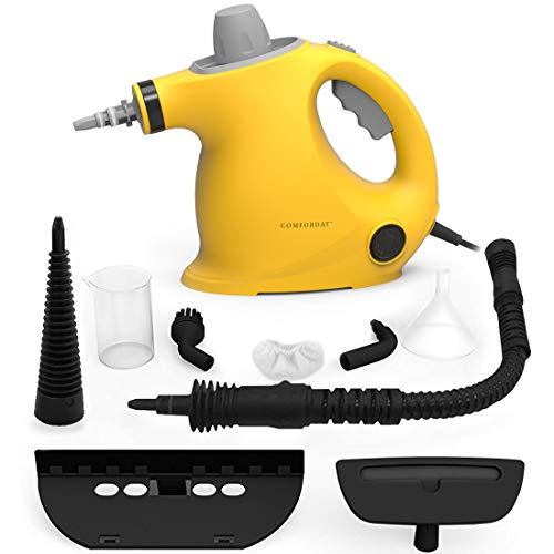 Pulitore a vapore portatile, pulitori a vapore portatili multiuso con 9 accessori per rimuovere macchie, moquette, tende, seggiolini auto, cucina, cimici, pavimento, bagno