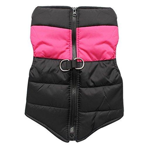 SUPEREX® Pet Coat Jacket Hundemantel wasserdicht Winterjacke Dog Vest für Welpen Hund, Herbst Weste, Winter Vest Warm Padded Vest-Ski-Mantel (Rosa (Xxl Ski Kostüme)
