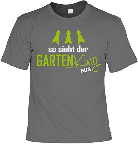 Witziges Sprüche T-Shirt Gärtner : So sieht der Garten King aus -- Arbeitskleidung Gärtner / Garten Zubehör Gr: L