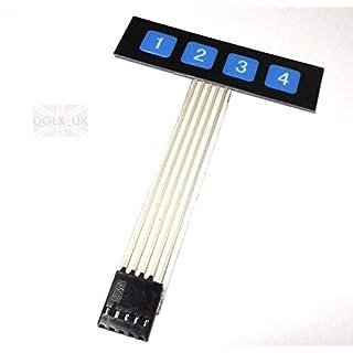 Generic h Contro Control Panel atrix M Membrane Switch e Switch Keypad Keyboard tch 1x4 Key Matrix im E0Xc Slim E0Xc