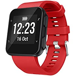 Para Garmin Forerunner 35,Correa de muñeca de repuesto Silicagel Correa de banda suave correa de reloj ABsolute (Rojo)