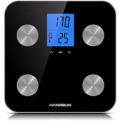 Hangsun Báscula Digitals de Análisis Corporal HS200 Báscula de Baño Diagnóstica de Auto Reconocimiento de Hasta 10