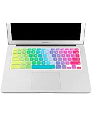 "Laprite Keyboard Cover Silicone Skin for MacBook Air 13"" MacBook Pro 13"" 15"" 17"" Inch (with or w/Out Retina Display) and iMac Apple Wireless Keyboard - Rainbow"