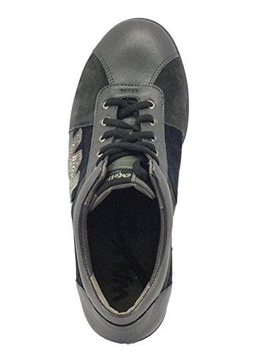 MELLUSO Sneakers per Donna in Camoscio e Pelle Multicolore Antracite