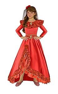 Ciao 18383.4-6 - Disfraz de princesa de España 7-9 anni rojo