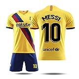 FNINES Messi Fußballanzug Trikot Und Kurze Hose Offizielle Kollektion Für Erwachsene Und Kinder Kurzarm + Shorts Fußball Uniform,No.10,20