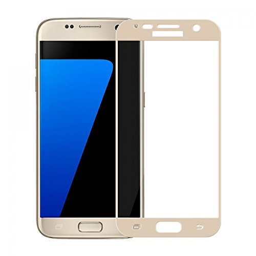 Plus Curved Edge 3D Full Screen Tempered Glass Screen Protector for Samsung Galaxy S6 – Gold