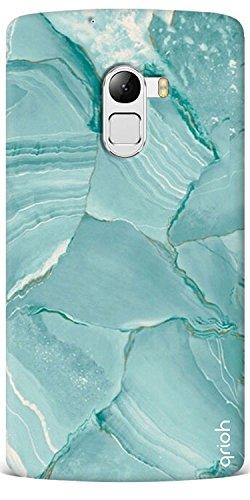 Qrioh Printed Designer Back Case Cover for Lenovo K4 Note - Blue Marble Texture